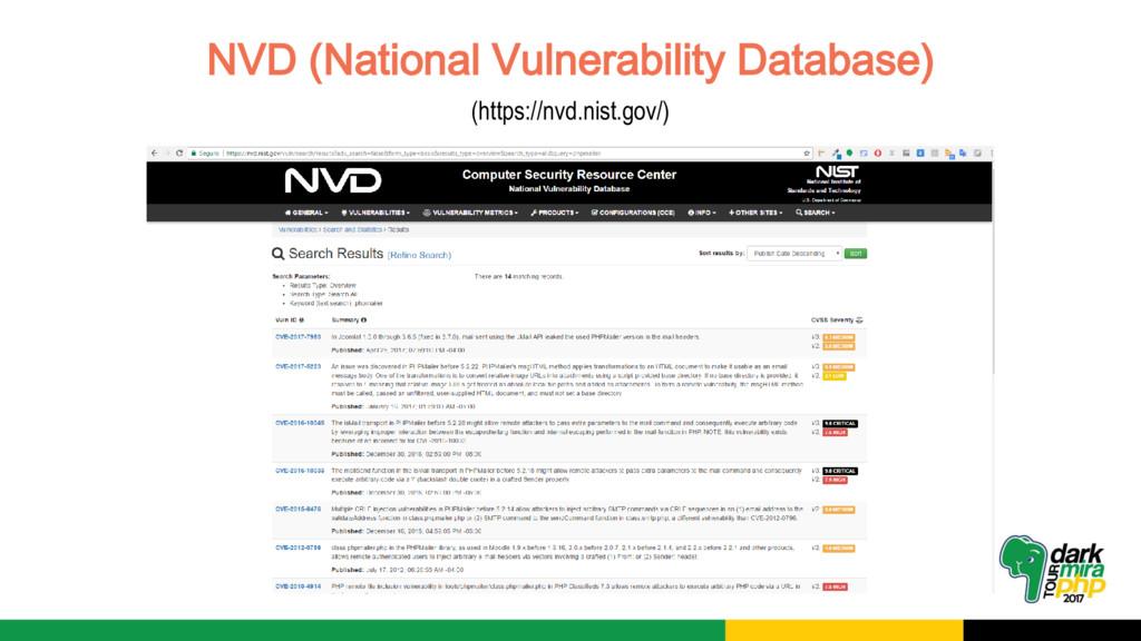 NVD (National Vulnerability Database) (https://...