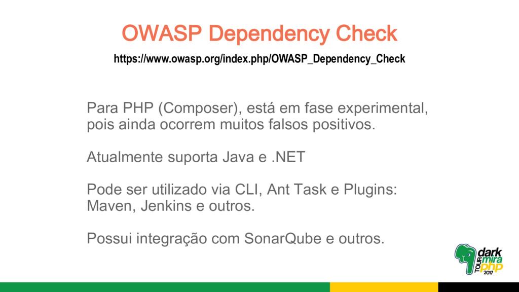 OWASP Dependency Check https://www.owasp.org/in...