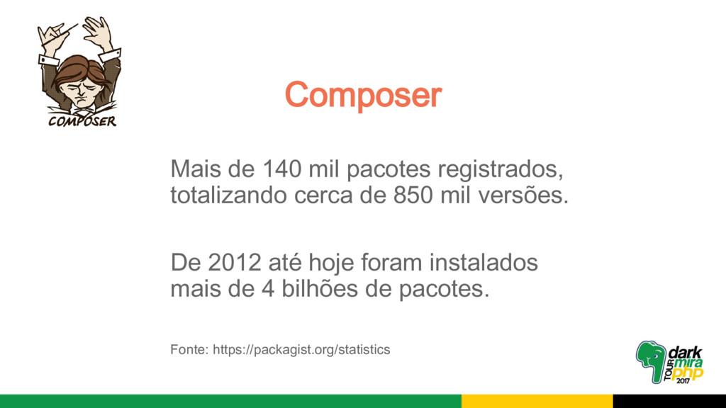 Mais de 140 mil pacotes registrados, totalizand...