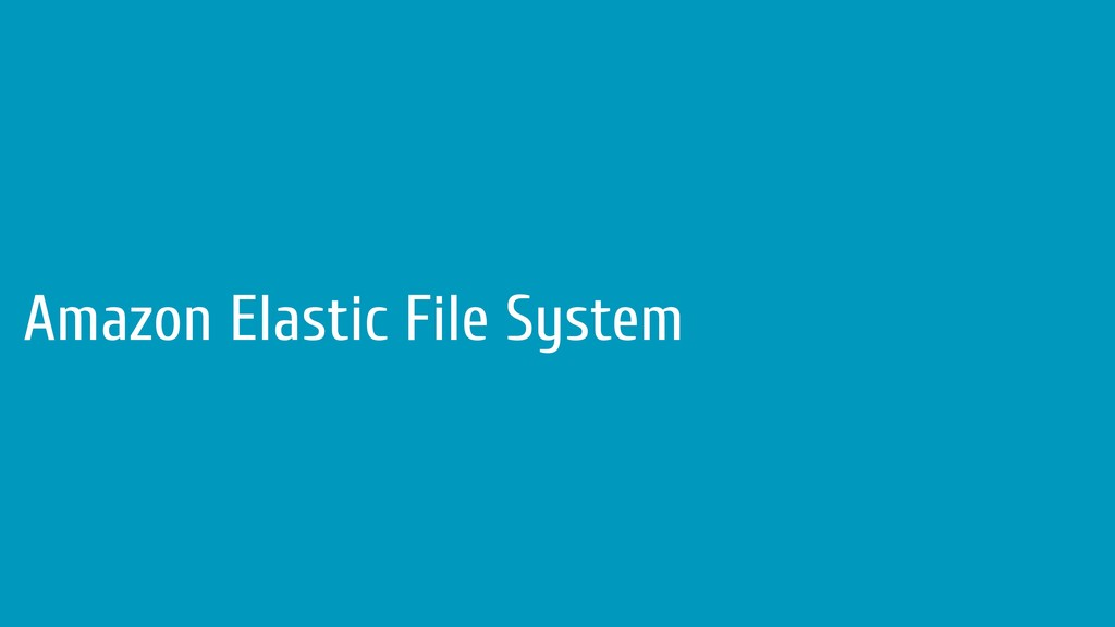Amazon Elastic File System