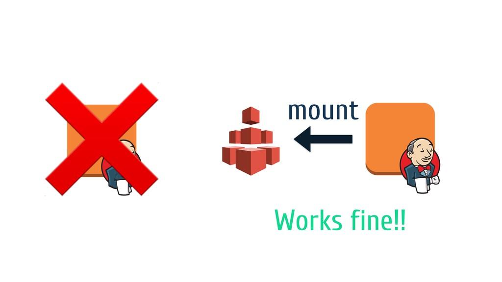 ❌ mount Works fine!!