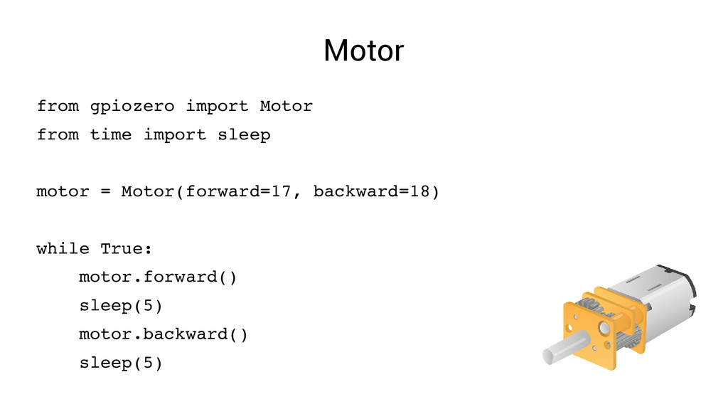 Motor from gpiozero import Motor from time impo...