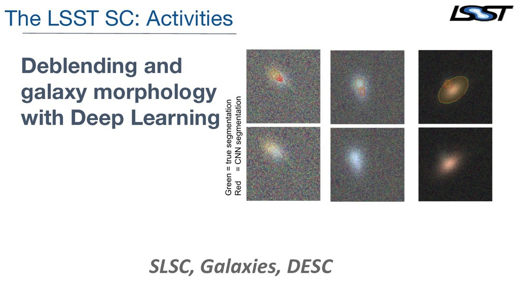 The LSST SC: Activities Deblending and galaxy m...