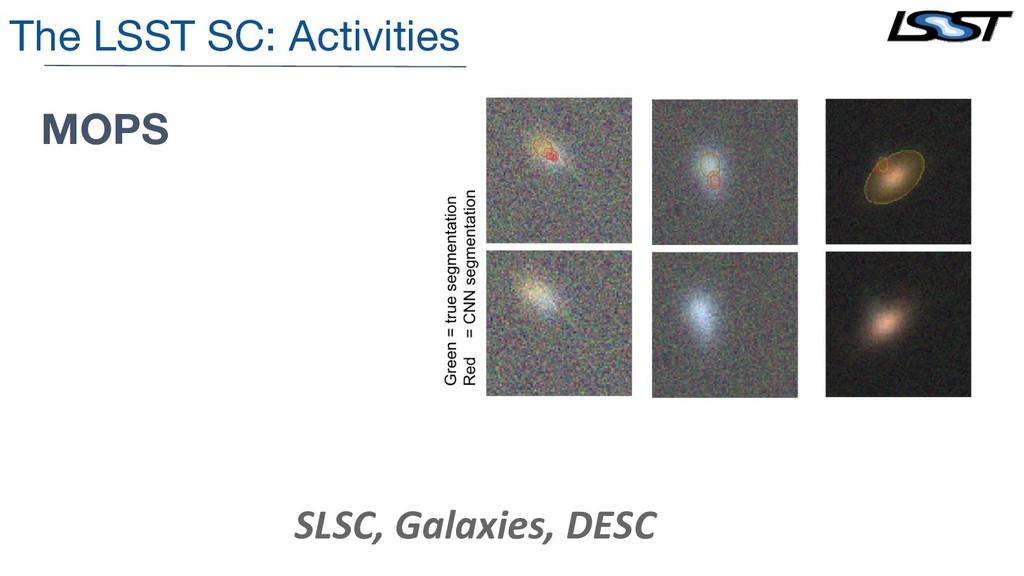 The LSST SC: Activities MOPS SLSC, Galaxies, DE...