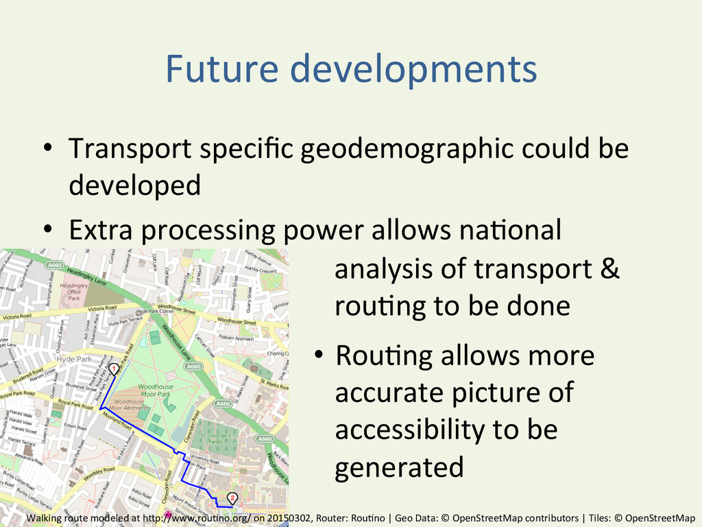 Future developments  • Transport spec...
