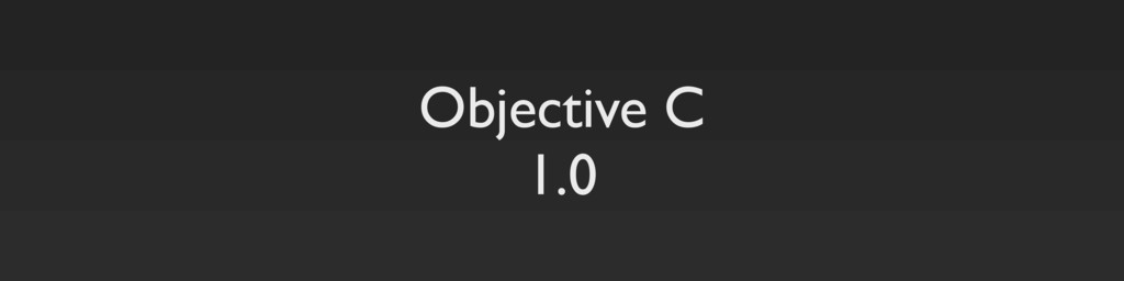 Objective C 1.0