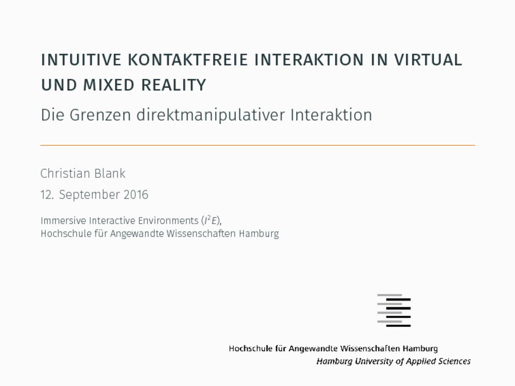 intuitive kontaktfreie interaktion in virtual u...