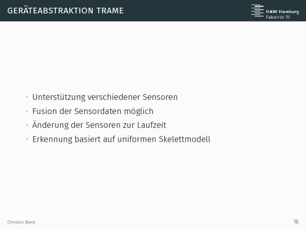 geräteabstraktion trame ∙ Unterstützung verschi...