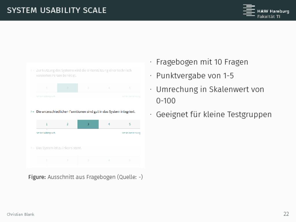system usability scale Figure: Ausschnitt aus F...