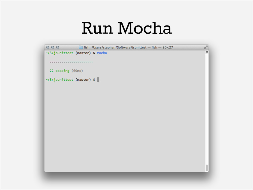 Run Mocha