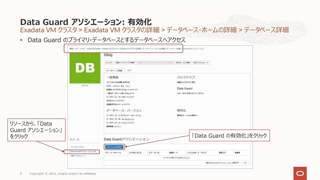 Exadata VM クラスタ > Exadata VM クラスタの詳細 > データベース・ホ...