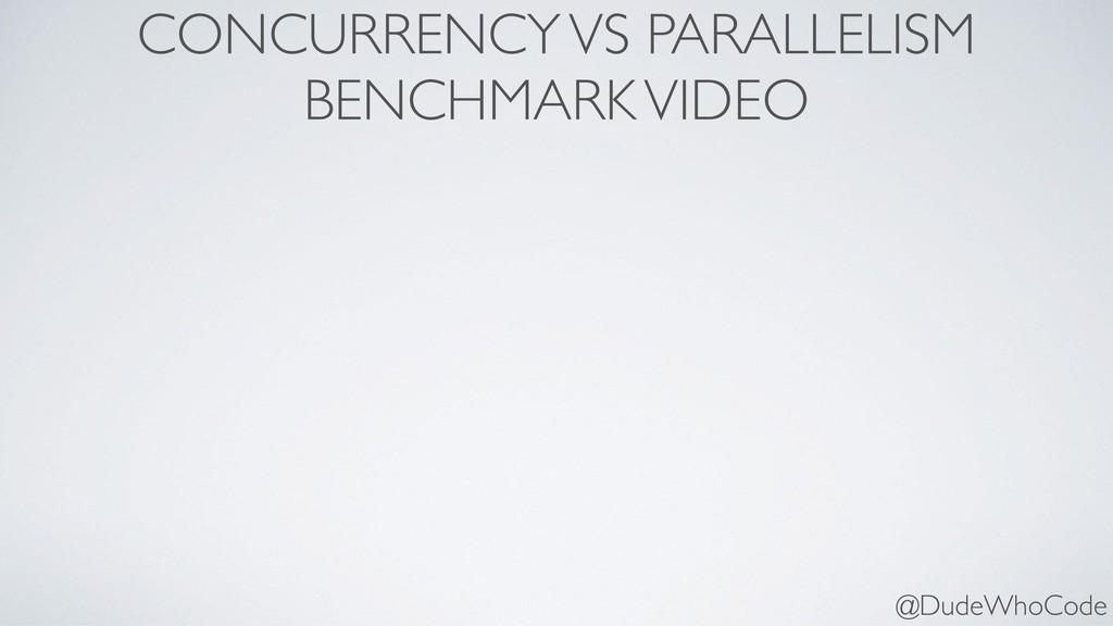 CONCURRENCY VS PARALLELISM BENCHMARK VIDEO @Du...