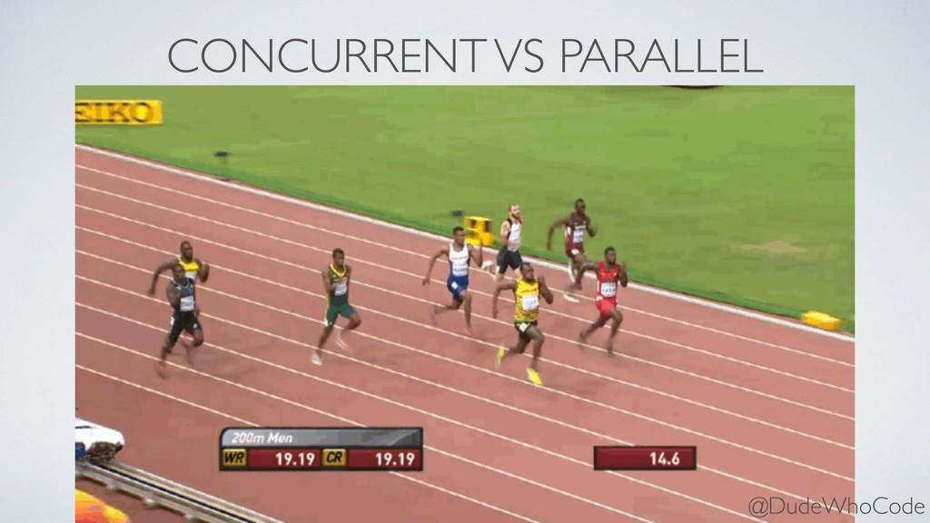 CONCURRENT VS PARALLEL @DudeWhoCode