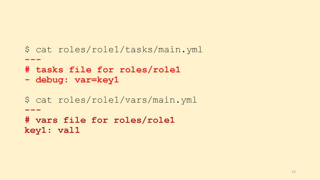 $ cat roles/role1/tasks/main.yml --- # tasks fi...