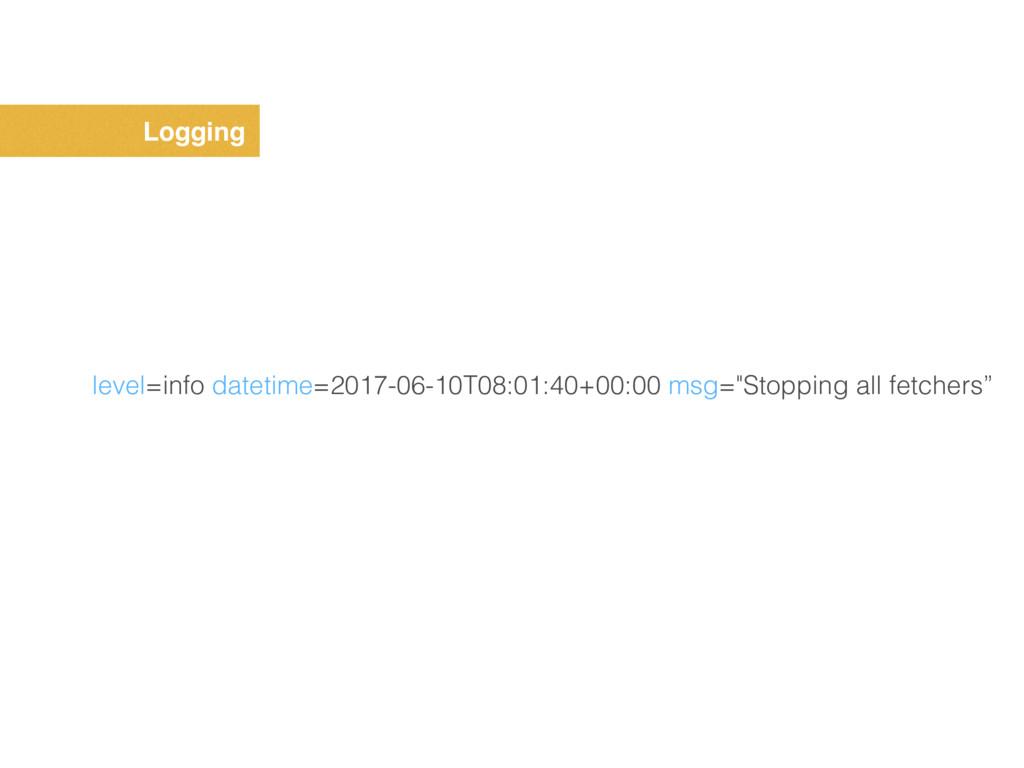 Logging level=info datetime=2017-06-10T08:01:40...