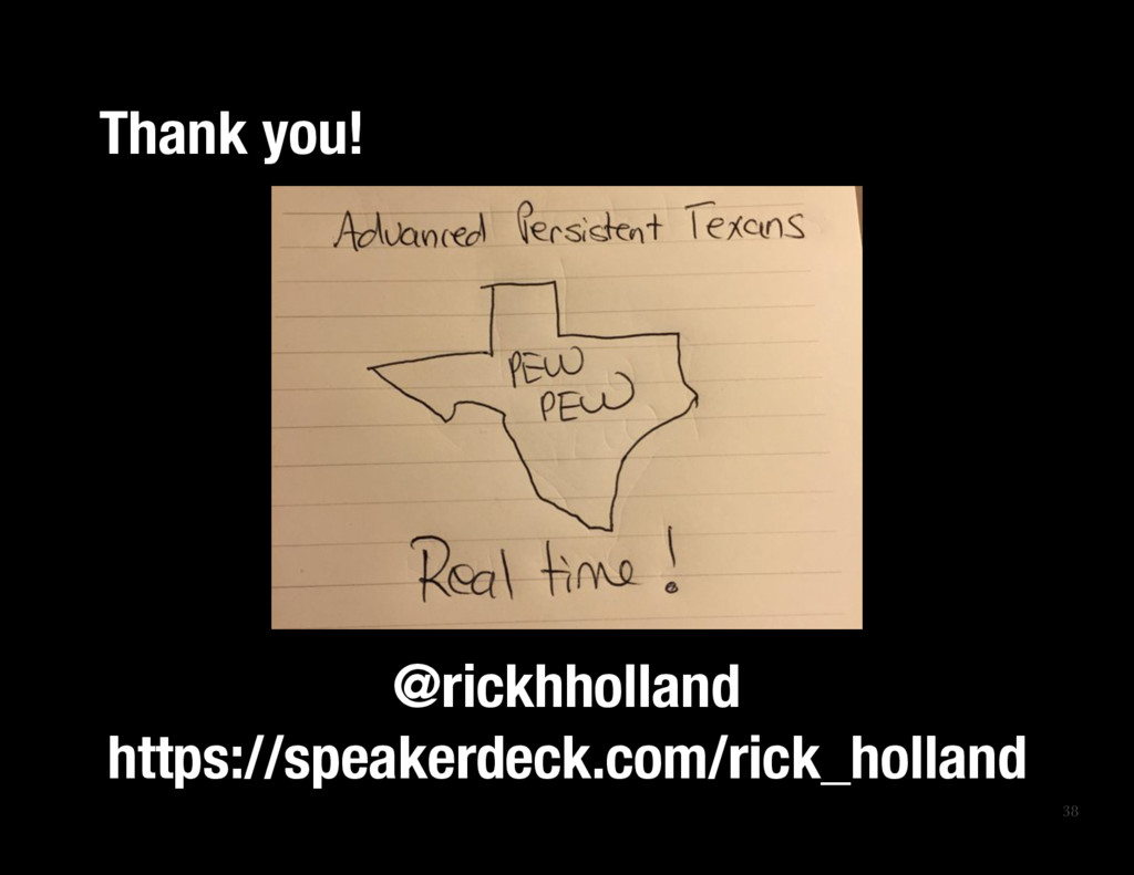 38 Thank you! @rickhholland https://speakerd...