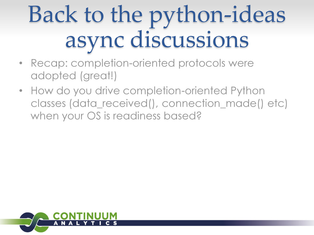 Back to the python-ideas async discussions • Re...