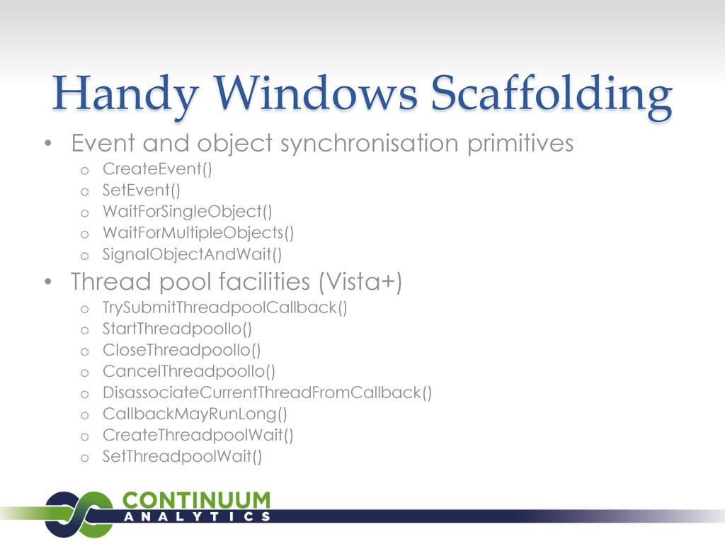 Handy Windows Scaffolding • Event and object sy...