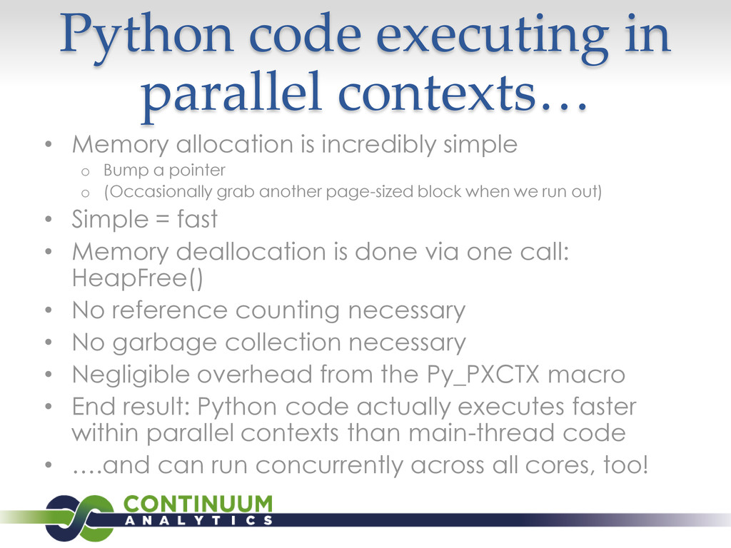 Python code executing in parallel contexts… • M...
