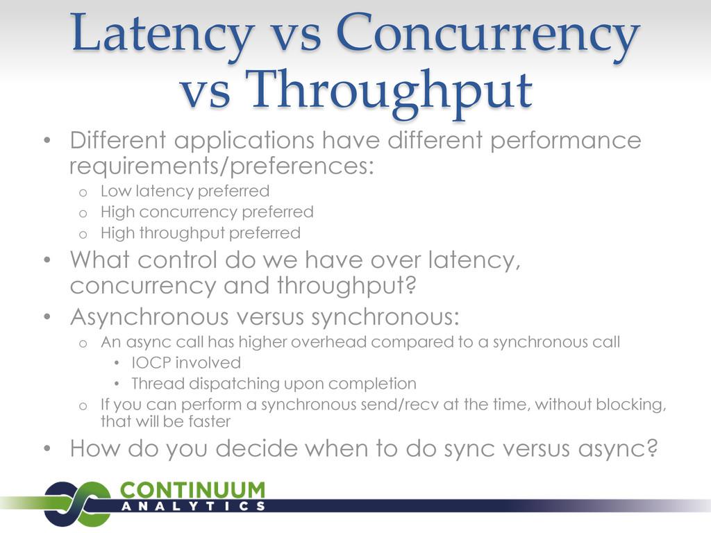 Latency vs Concurrency vs Throughput • Differen...