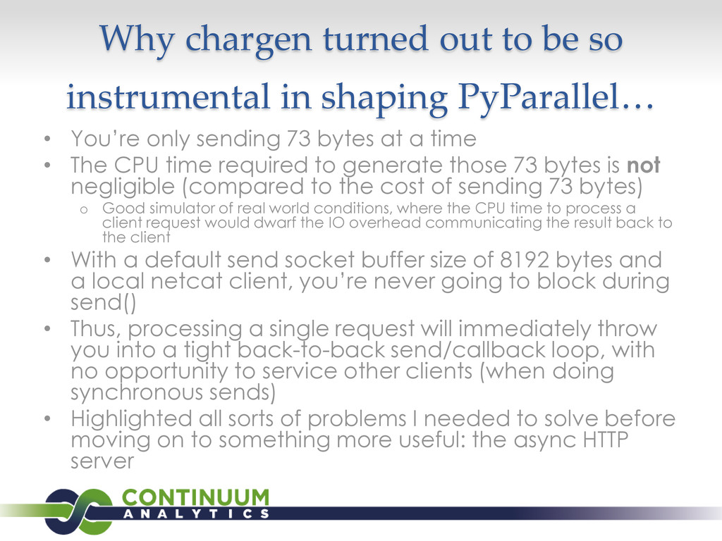 Why chargen turned out to be so instrumental in...