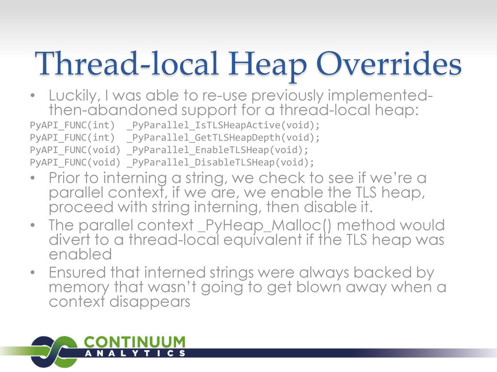 Thread-local Heap Overrides • Luckily, I was ab...