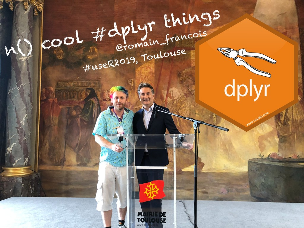 n() cool #dplyr things @romain_francois #useR20...