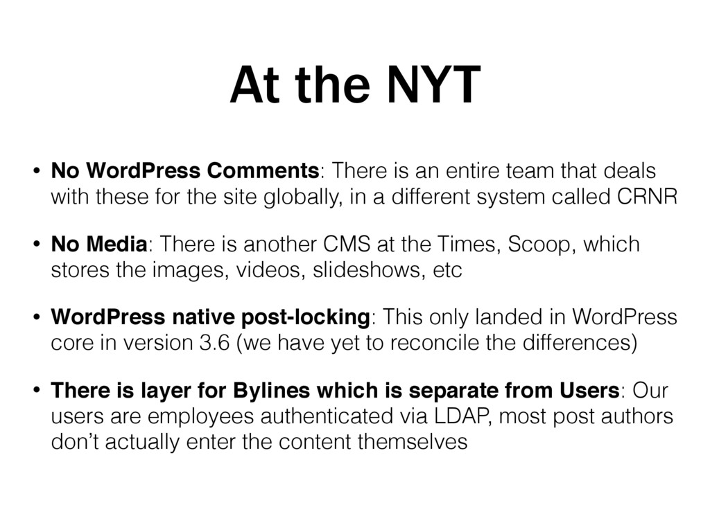 At the NYT • No WordPress Comments: There is an...