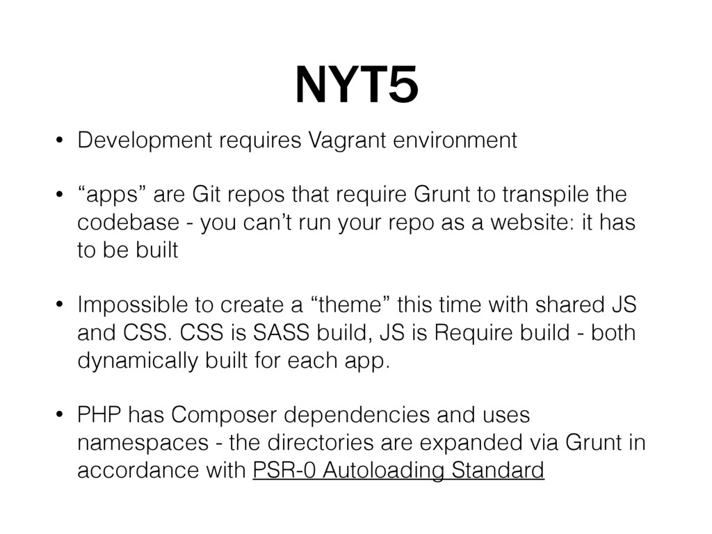 NYT5 • Development requires Vagrant environment...