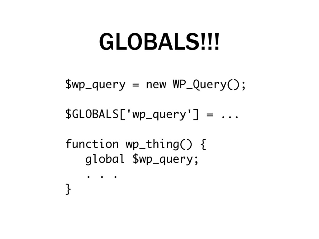 $wp_query = new WP_Query(); $GLOBALS['wp_query'...