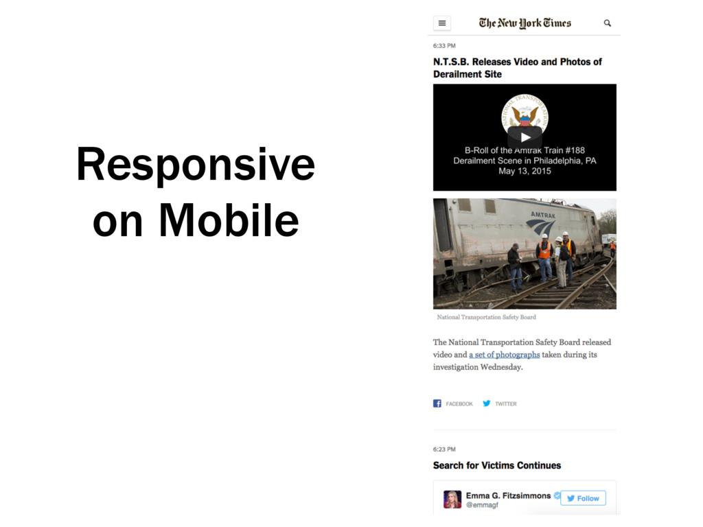 Responsive on Mobile