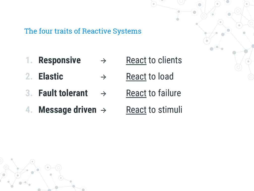 The four traits of Reactive Systems 1. Respons...