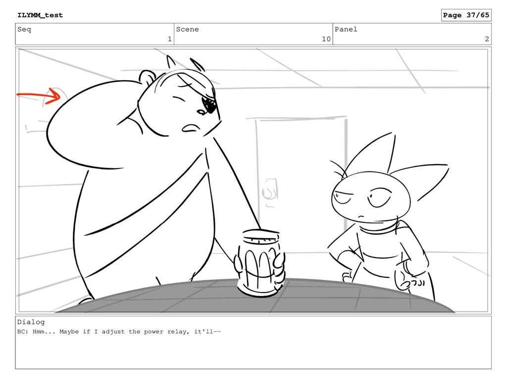 Seq 1 Scene 10 Panel 2 Dialog BC: Hmm... Maybe ...