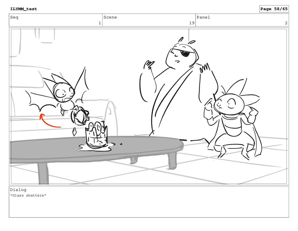 Seq 1 Scene 19 Panel 2 Dialog *Glass shatters* ...