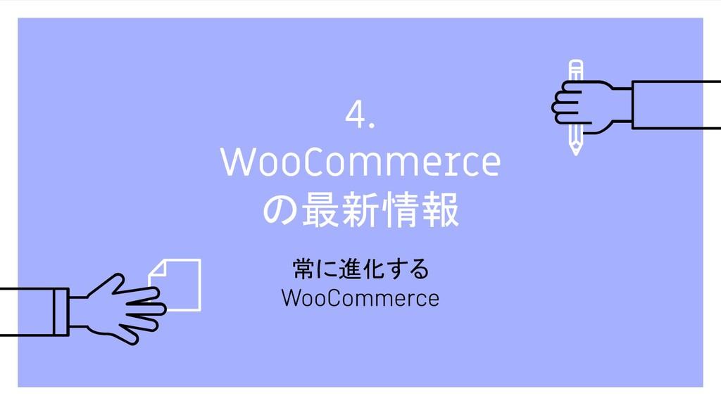 4. WooCommerce の最新情報 常に進化する