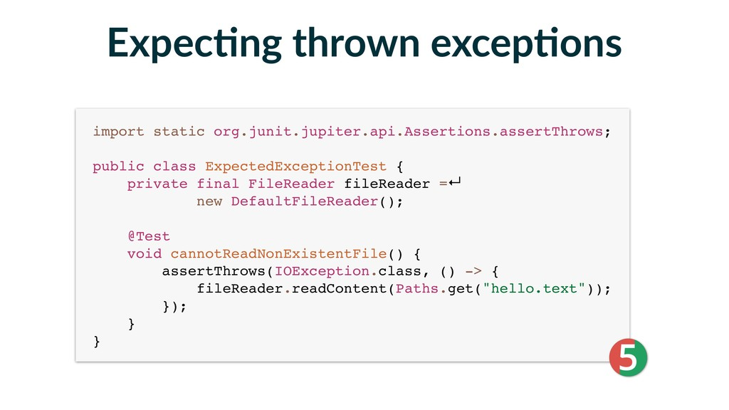 import static org.junit.jupiter.api.Assertions....