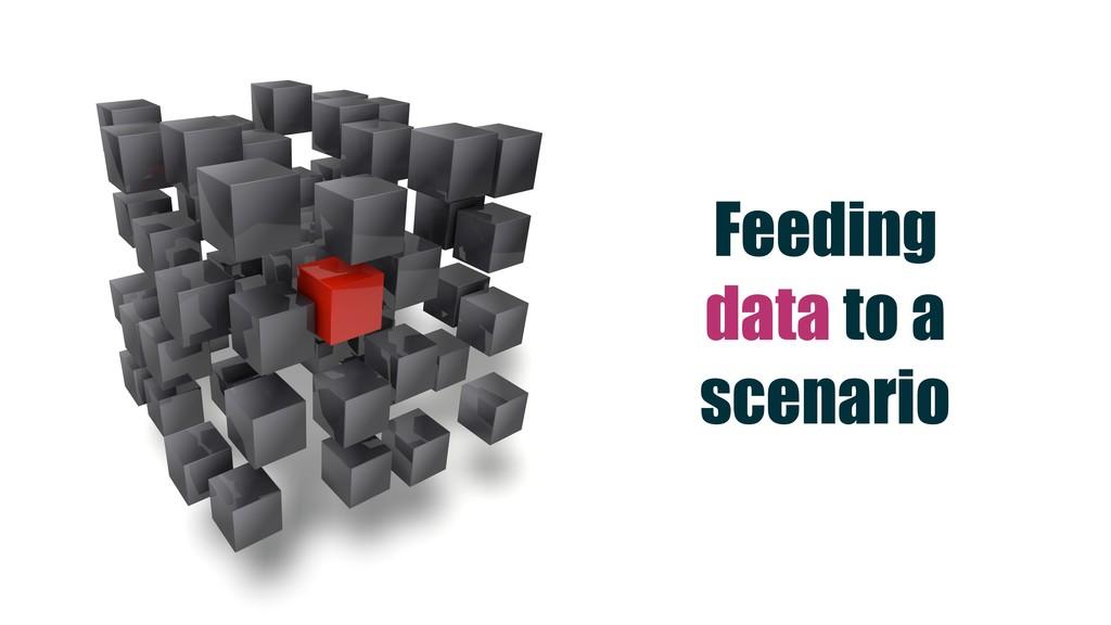 Feeding data to a scenario