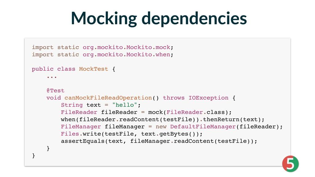 import static org.mockito.Mockito.mock; import...