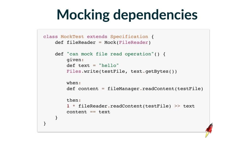 class MockTest extends Specification { def fil...