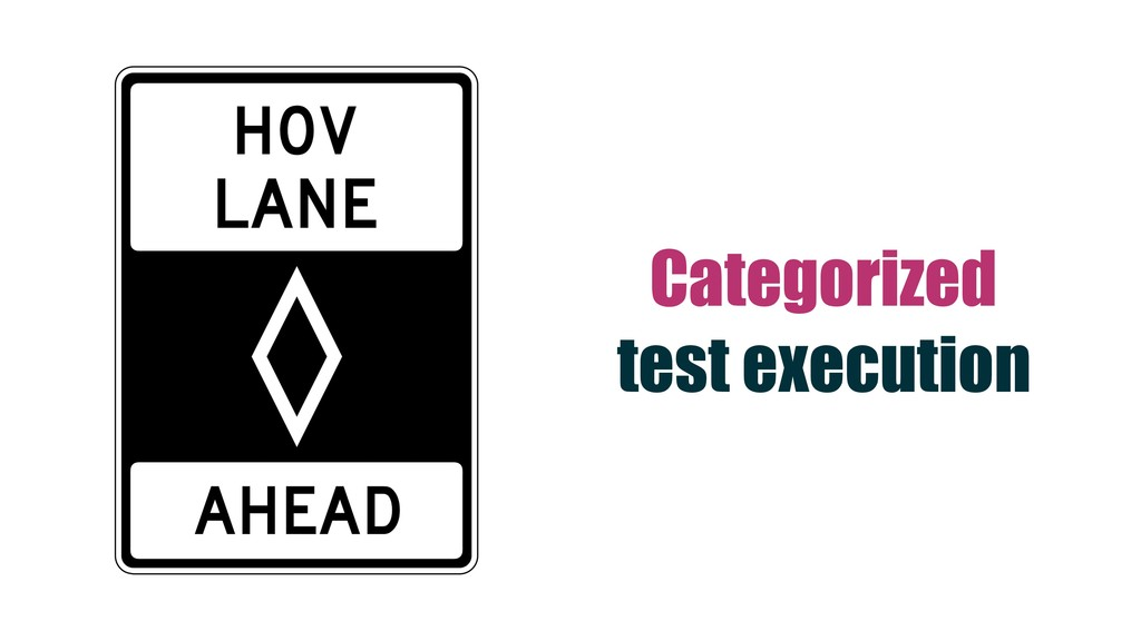 Categorized test execution