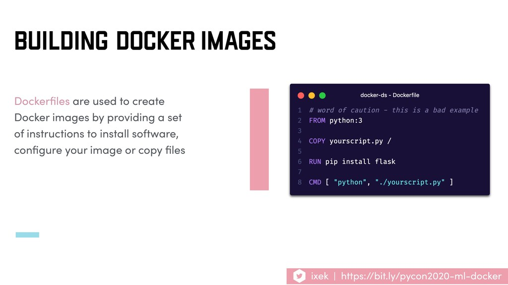 Dockerfiles are used to create Docker images by ...