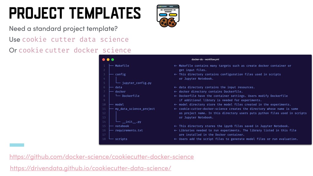 PROJECT TEMPLATES Need a standard project templ...