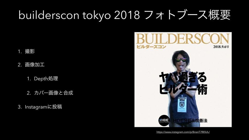 builderscon tokyo 2018 ϑΥτϒʔε֓ཁ 1. Ө 2. ը૾Ճ 1...