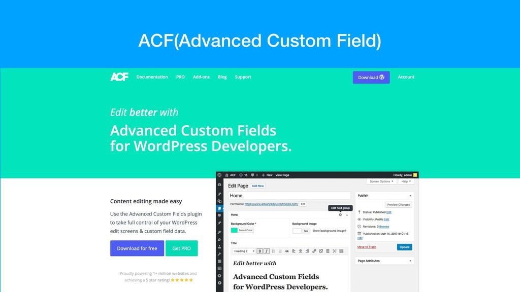 ACF(Advanced Custom Field)