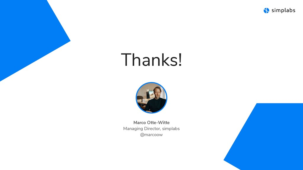 Thanks! Marco Otte-Witte  Managing Director, s...