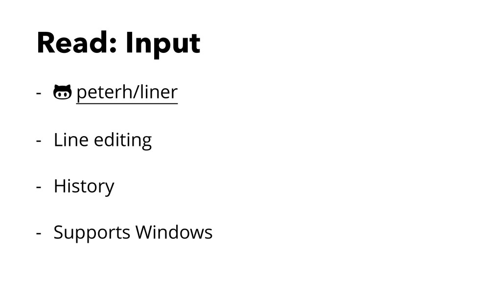 Read: Input - ! peterh/liner - Line editing - H...