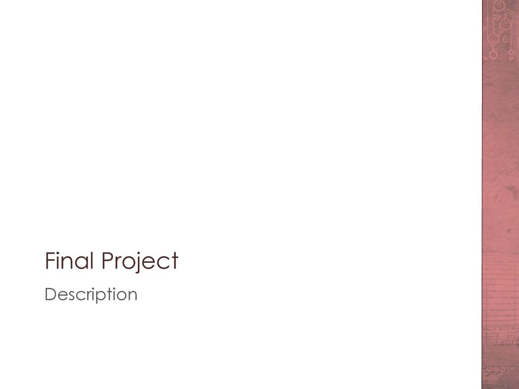 Final Project Description