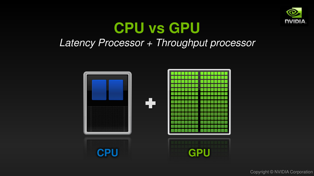 Copyright © NVIDIA Corporation GPU CPU CPU vs G...