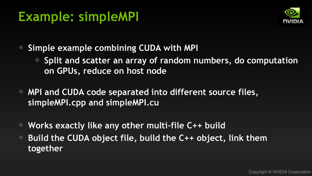 Copyright © NVIDIA Corporation Example: simpleM...