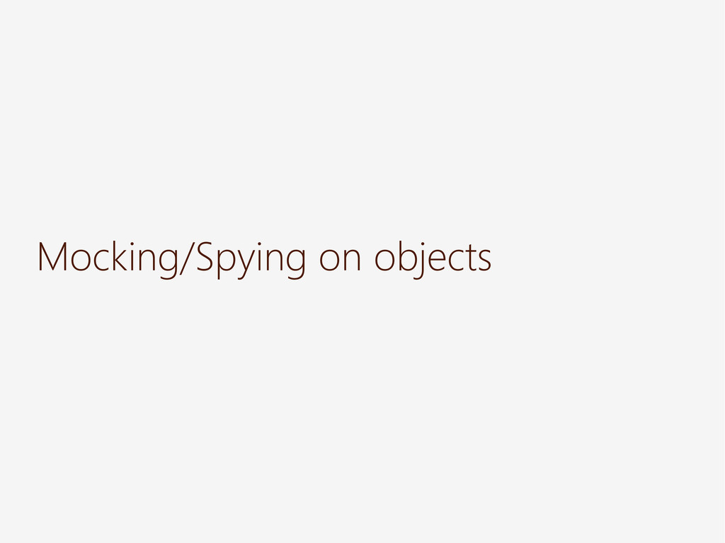 Mocking/Spying on objects